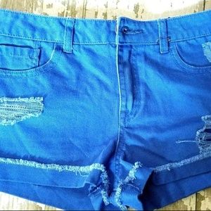 Forever 21 Womens Jean Shorts Size 28 Distressed